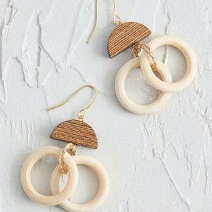Jewelry - Dangly Duo Wooden Earrings